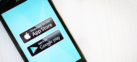 Mobiili-appsit kosketusnäytöllä
